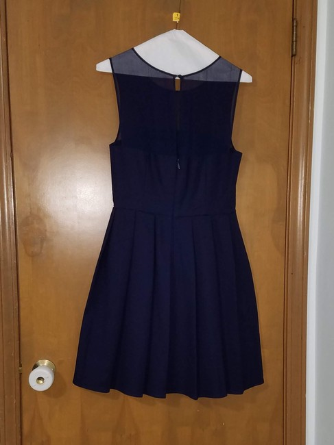 Halston Navy Dress Image 3