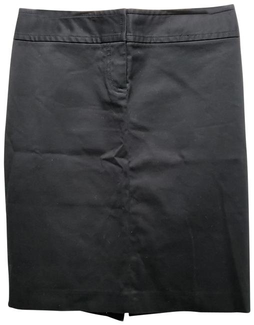 J.Crew Cotton Pencil Dryclean Only Skirt Black Image 0