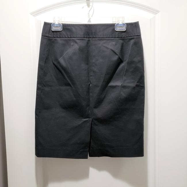 J.Crew Cotton Pencil Dryclean Only Skirt Black Image 1