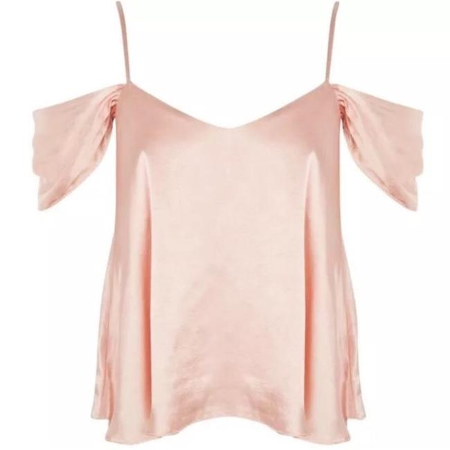 Topshop Satin Cold Shoulder Blouse Top pink Image 1