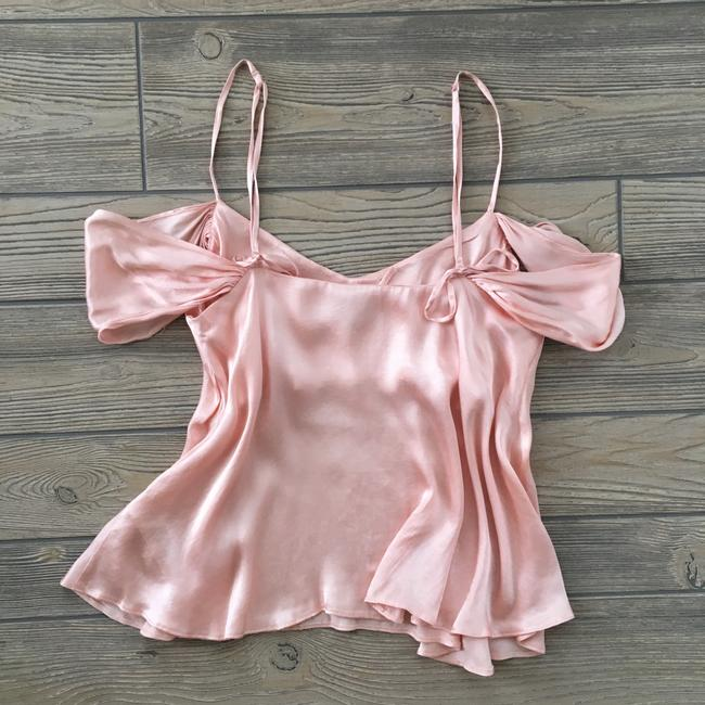 Topshop Satin Cold Shoulder Blouse Top pink Image 5