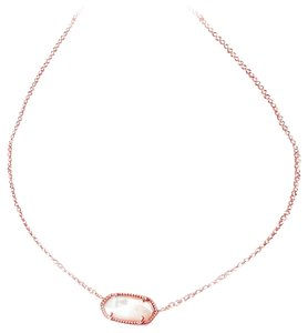 961c2f0b86fe0 Kendra Scott Rose Gold Elisa Ivory Mother Of Pearl Necklace 21% off retail
