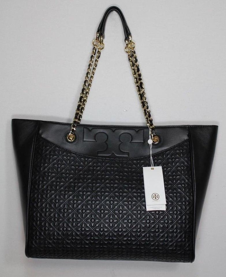 Quilted Purse Tote New Burch Leather Tory Large Rare Black TWaExnHB