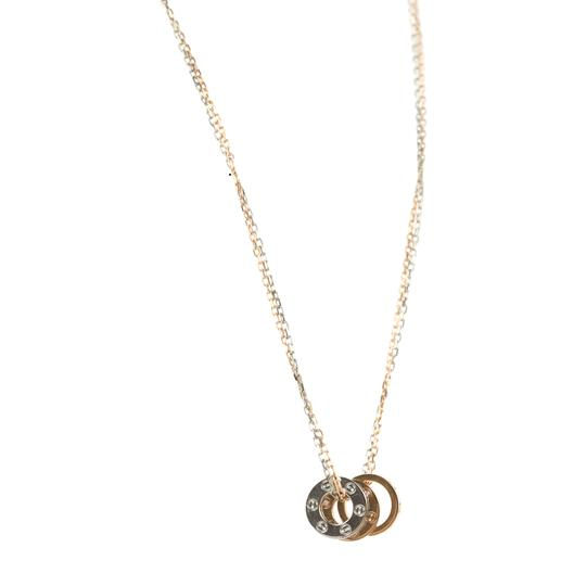 Cartier Rose and White Gold 6 Diamonds Love Necklace