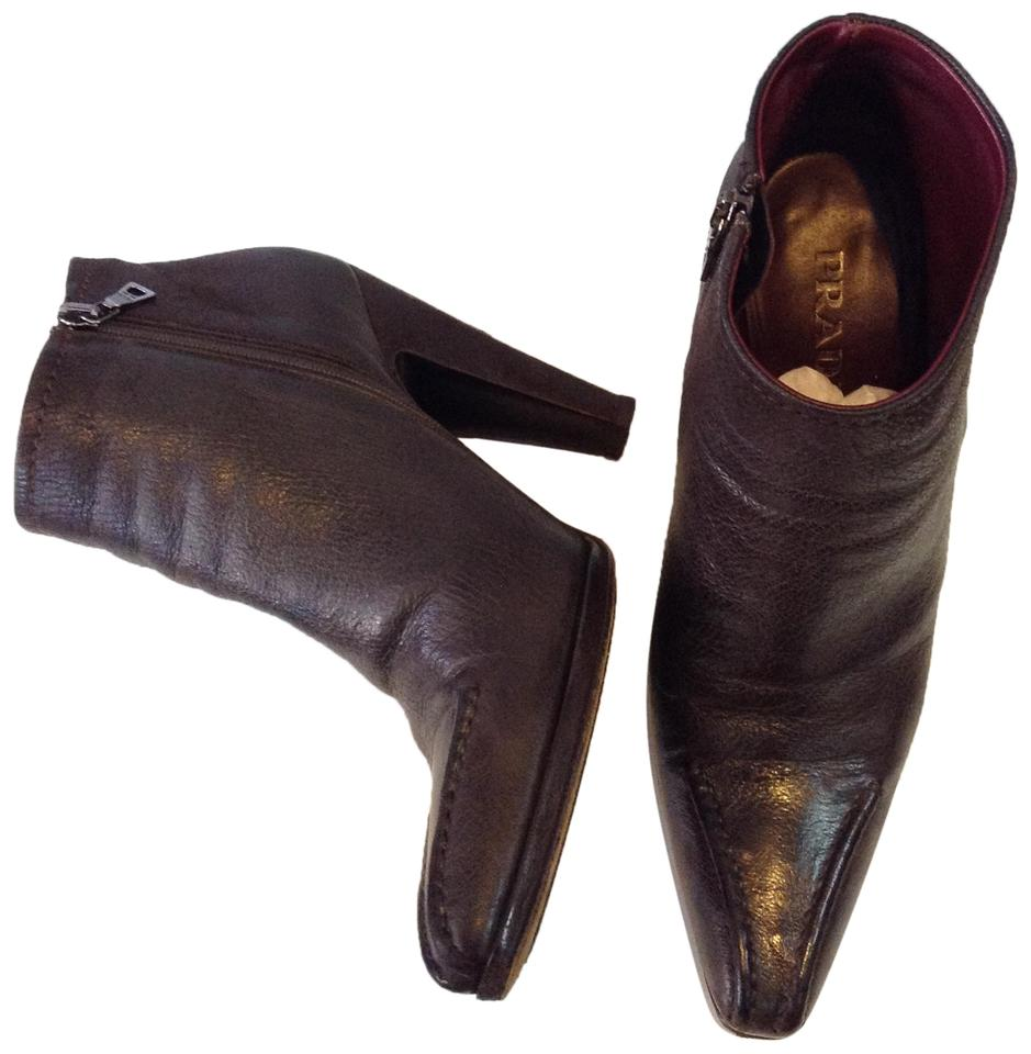 Ladies Prada Brown The Lambskin Boots/Booties The Brown newest style 2e6175