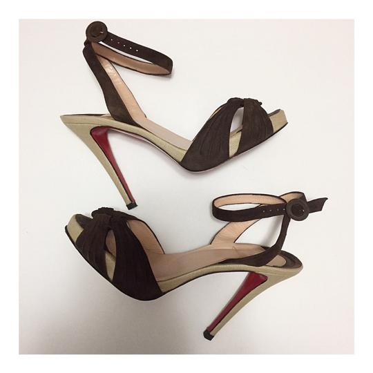 Christian Louboutin Brown Platforms Image 2