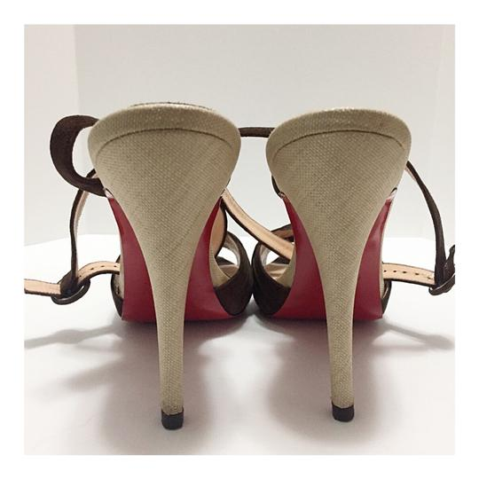 Christian Louboutin Brown Platforms Image 4