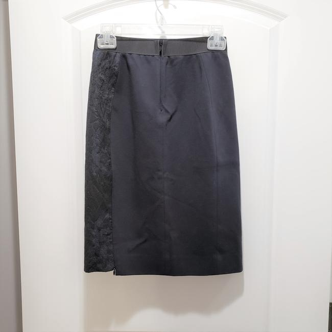 Elie Tahari Lace Pencil Dryclean Only Skirt Black/Blue Image 1