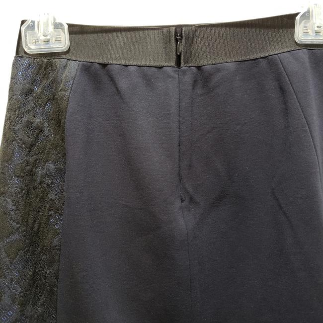 Elie Tahari Lace Pencil Dryclean Only Skirt Black/Blue Image 3