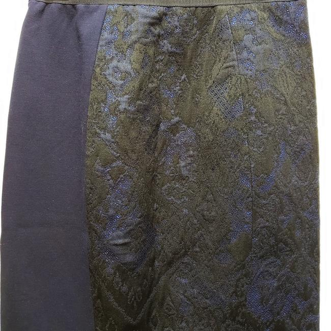 Elie Tahari Lace Pencil Dryclean Only Skirt Black/Blue Image 5