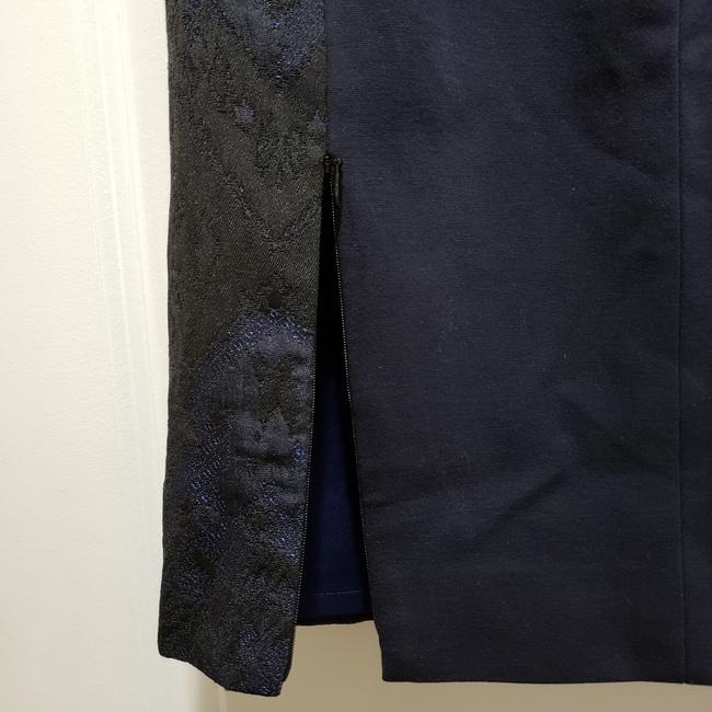 Elie Tahari Lace Pencil Dryclean Only Skirt Black/Blue Image 6