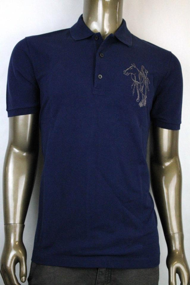 ee8d1046a14a Gucci Navy New Men s Slim Fit Embroidered Horse Polo Top 3xl 338567 4564  Shirt