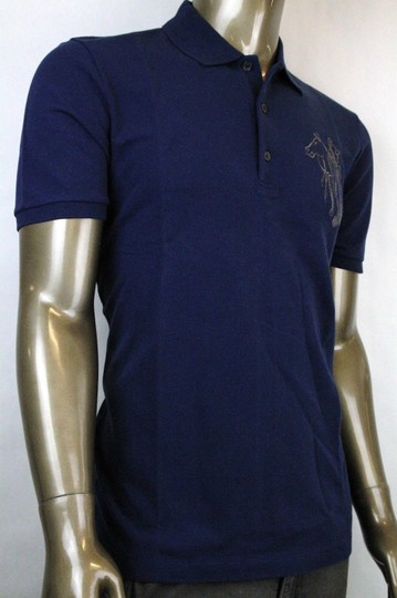 Gucci Navy New Men's Slim Fit Embroidered Horse Polo Top 3xl 338567 4564 Shirt Image 1