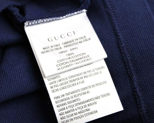 833cc5bda Gucci Navy New Men's Slim Fit Embroidered Horse Polo Top 3xl 338567 4564  Shirt Image 5