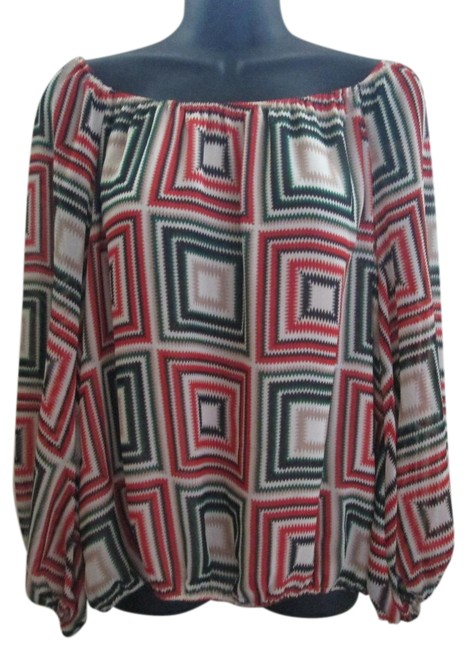 Preload https://img-static.tradesy.com/item/23788362/vince-camuto-multicolored-blouse-size-8-m-0-2-650-650.jpg