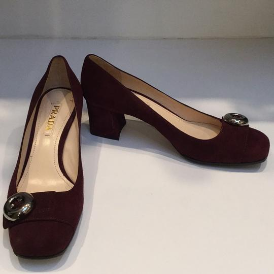 Prada Burgundy Pumps Image 1