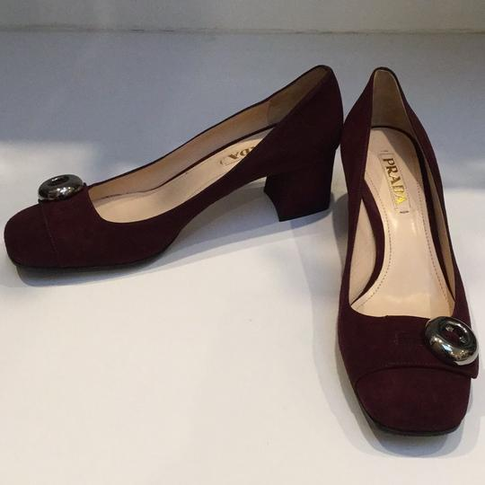 Prada Burgundy Pumps Image 3