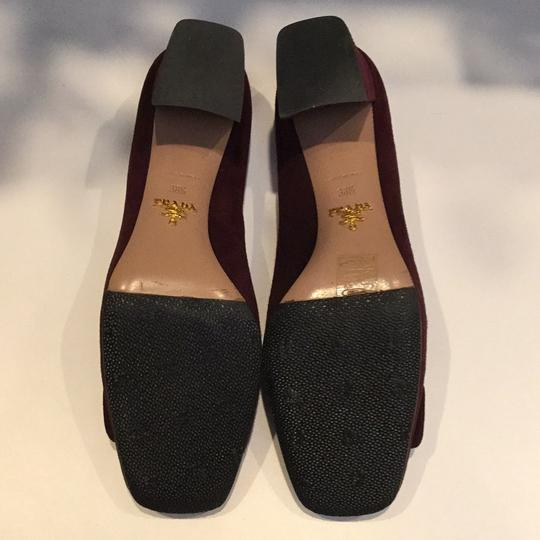 Prada Burgundy Pumps Image 6