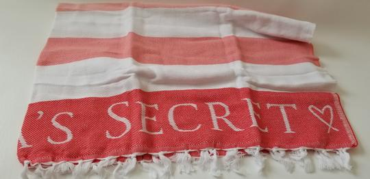 Victoria's Secret NEW Victoria's Secret Signature Stripe Logo beach Throw fringe Blanket Image 1