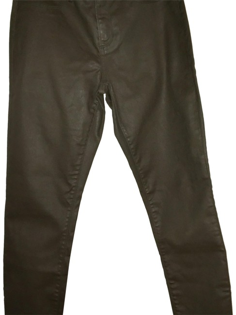 Item - Olive Green Coated Skinny Jeans Size 6 (S, 28)