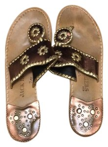 Jack Rogers gold, bronze, brown Sandals