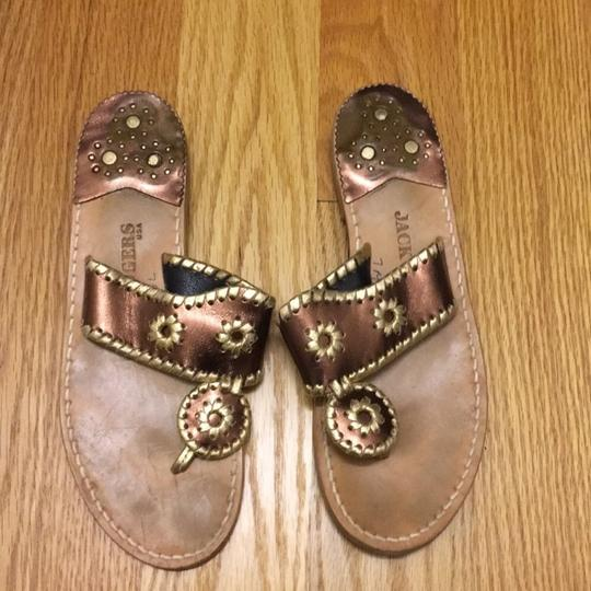 Jack Rogers gold, bronze, brown Sandals Image 1