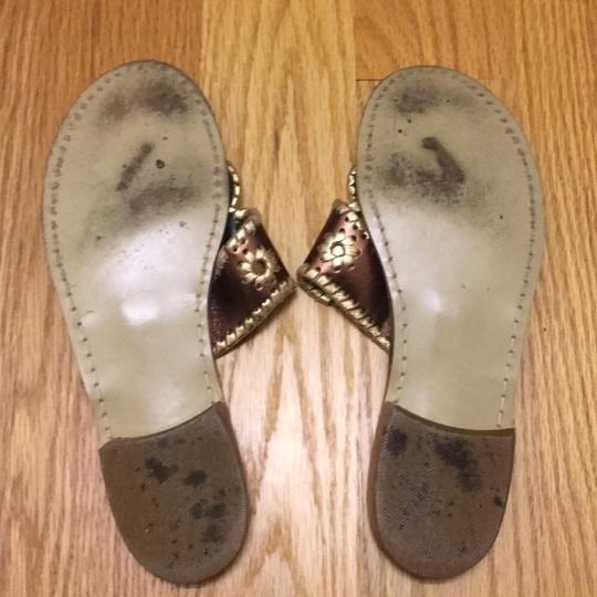 Jack Rogers gold, bronze, brown Sandals Image 4