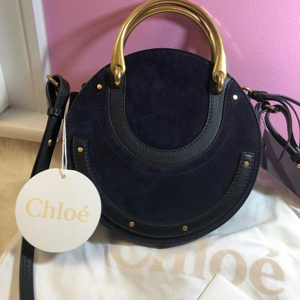 Pixie Body Small Blue Navy Leather Bag New Chloé Cross dxUqBwd0n