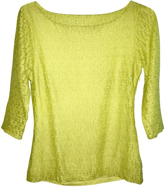 Preload https://img-static.tradesy.com/item/23788979/banana-republic-chartreuse-lace-boatneck-blouse-size-4-s-0-1-650-650.jpg