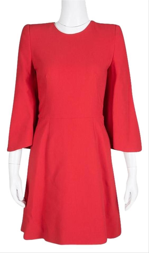 4af34011a157 Alexander McQueen Red Knit Kimono Sleeve Mid-length Formal Dress ...
