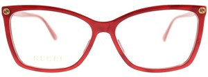 Gucci Gucci Eyeglasses GG0025O 004 Red Rectangle RX Eyeglasses