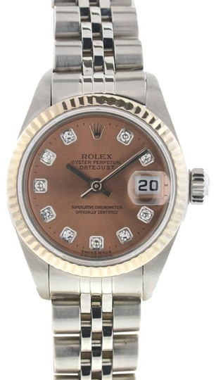 Preload https://img-static.tradesy.com/item/23789343/rolex-pink-salmon-79174-datejust-stainless-steel-diamond-dial-watch-0-1-540-540.jpg