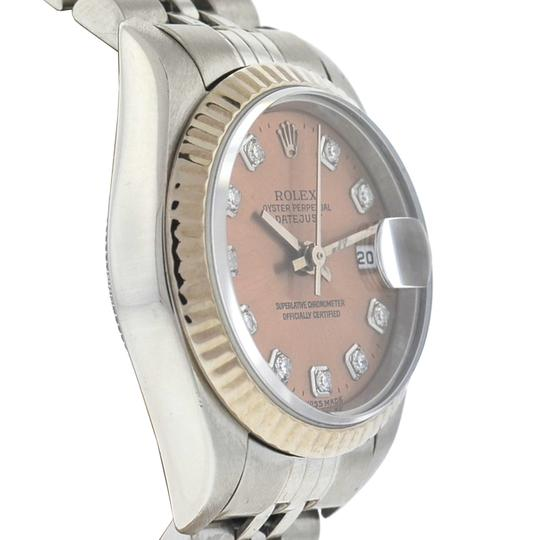 Rolex Rolex 79174 Datejust Stainless Steel Pink Salmon Diamond Dial Watch Image 10