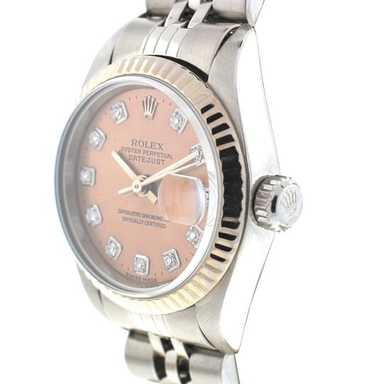 Rolex Rolex 79174 Datejust Stainless Steel Pink Salmon Diamond Dial Watch Image 7