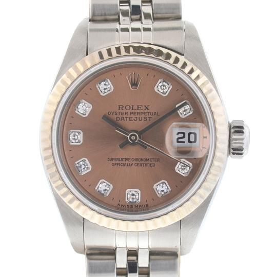 Rolex Rolex 79174 Datejust Stainless Steel Pink Salmon Diamond Dial Watch Image 8