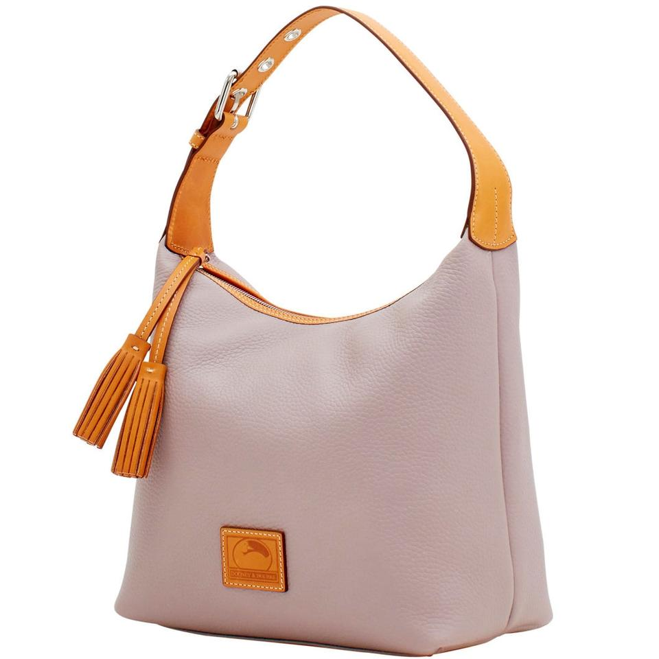 67ac410c5 Dooney & Bourke Patterson Paige Sac Hobo Oyster Leather Shoulder Bag ...