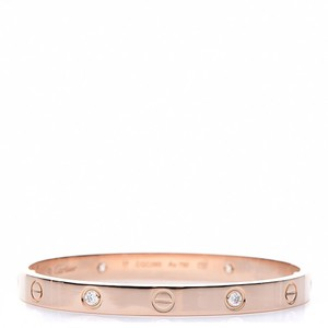 Cartier Love Bangle in Rose Gold With Diamonds New Screw System Size 17