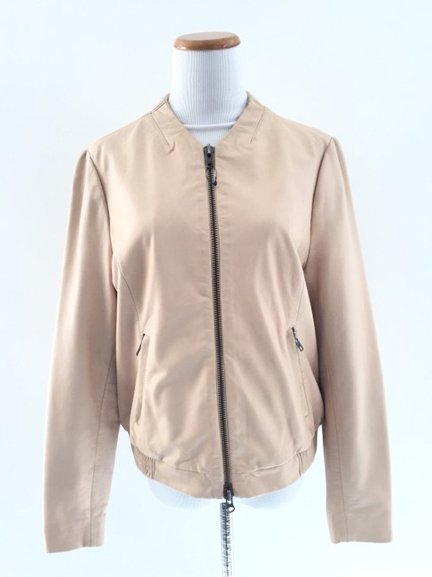 Muubaa Beige Leather Jacket Image 1
