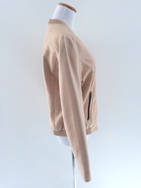 Muubaa Beige Leather Jacket Image 3