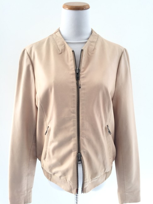 Muubaa Beige Leather Jacket Image 4