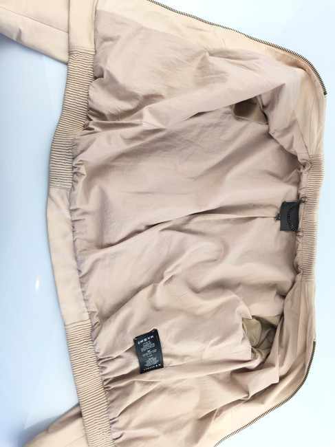 Muubaa Beige Leather Jacket Image 6