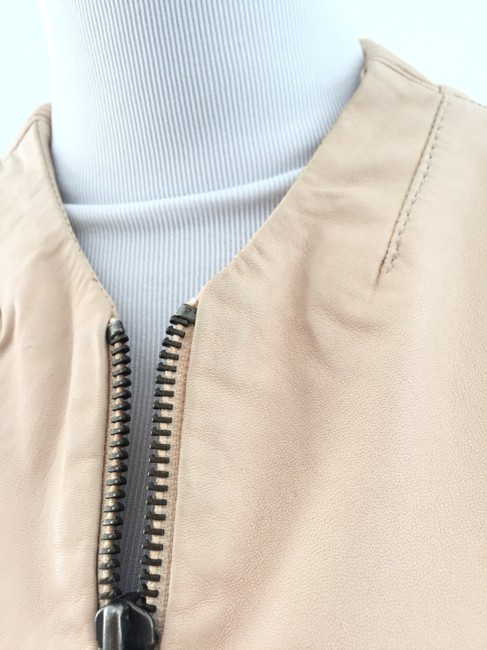 Muubaa Beige Leather Jacket Image 7