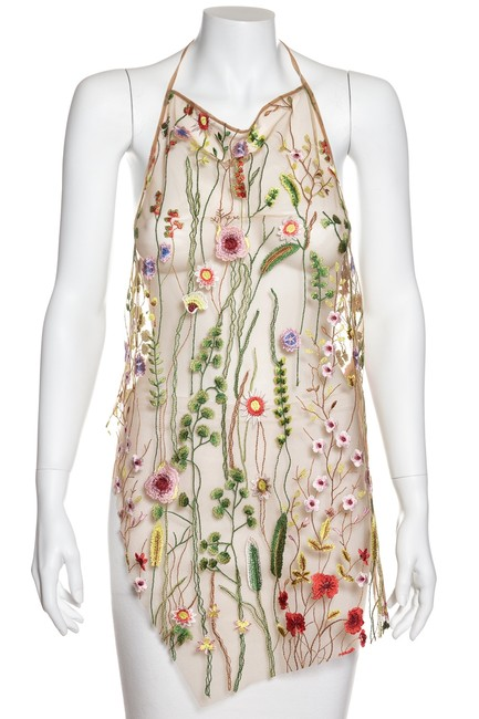 Preload https://img-static.tradesy.com/item/23789505/marques-almeida-multicolor-tan-and-floral-embroidered-xs-new-halter-top-size-2-xs-0-0-650-650.jpg