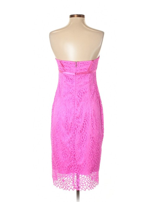 Pamella Roland Lace Strapless Sleeveless Cocktail Dress Image 1