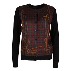4c8132c8b760 Ralph Lauren Panel Silk Cardigan. Ralph Lauren Black Cashmere Equestrian  and Horse Print ...