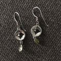 Other Silver and Peridot Drop Earrings Image 2
