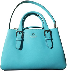 Kate Spade Leather Crossbody Satchel in Fresh Air