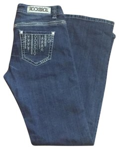 Rock and Roll Cowgirl Boot Cut Jeans-Medium Wash