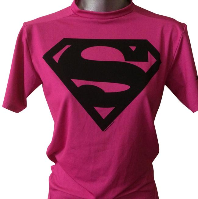 Item - Hot Pink Alter Ego Superwoman Fitted Tees Tee Shirt Size 2 (XS)