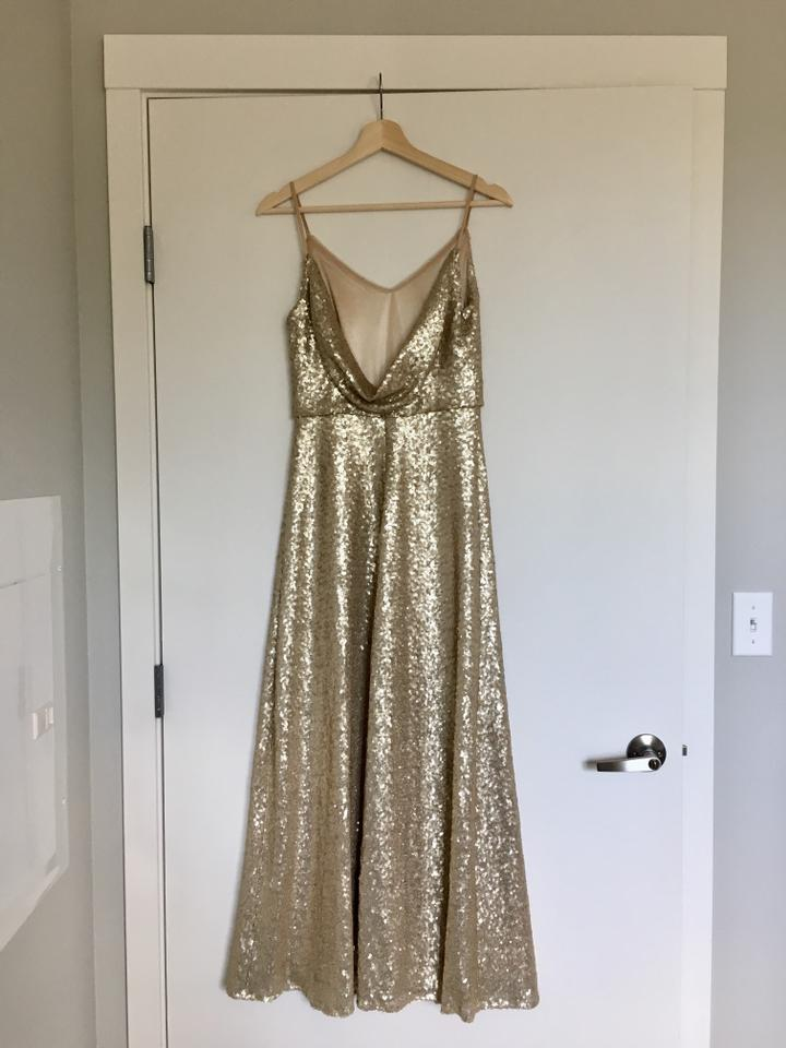 a37845ed4e36b Jenny Yoo Gold Sequin W  Polyester Lining Jules W  Detachable Back ...